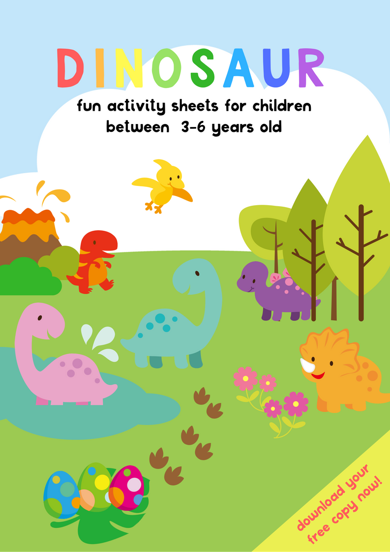 Dinosaur activity sheets free printables for preschool kindergarten malaysianmom also years old dinosaurs pinterest rh