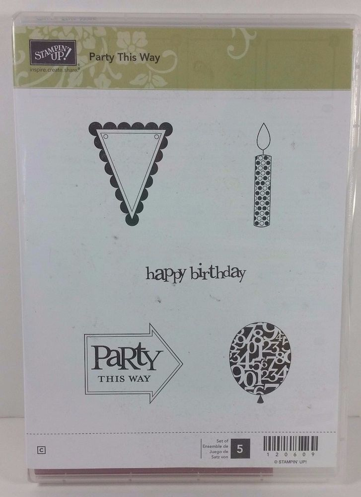 Stampin' Up! PARTY THIS WAY Balloon Candle Arrow Pennant Banner Birthday #StampinUp #Background