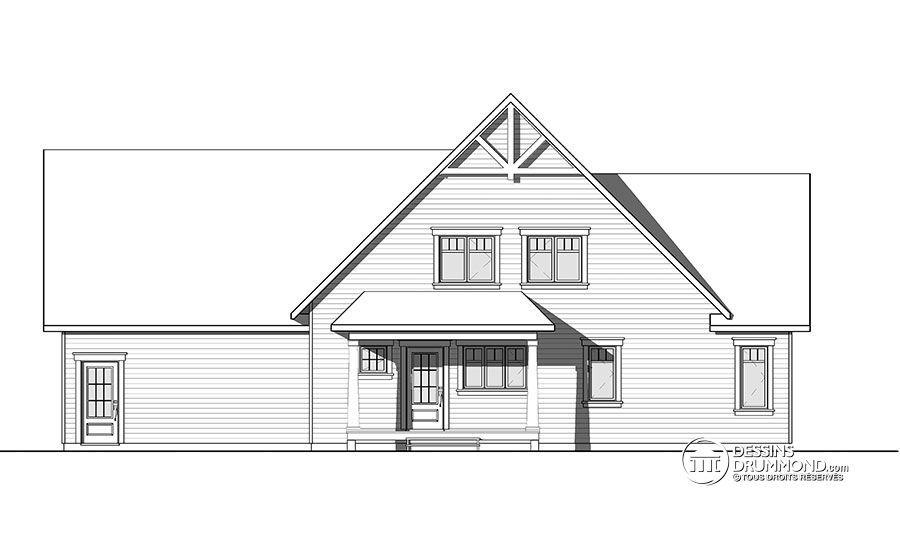 Détail du plan de Maison unifamiliale W3507-V3 Maison Pinterest
