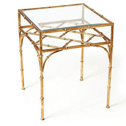 Bon Gold Finch Bamboo Side Table |