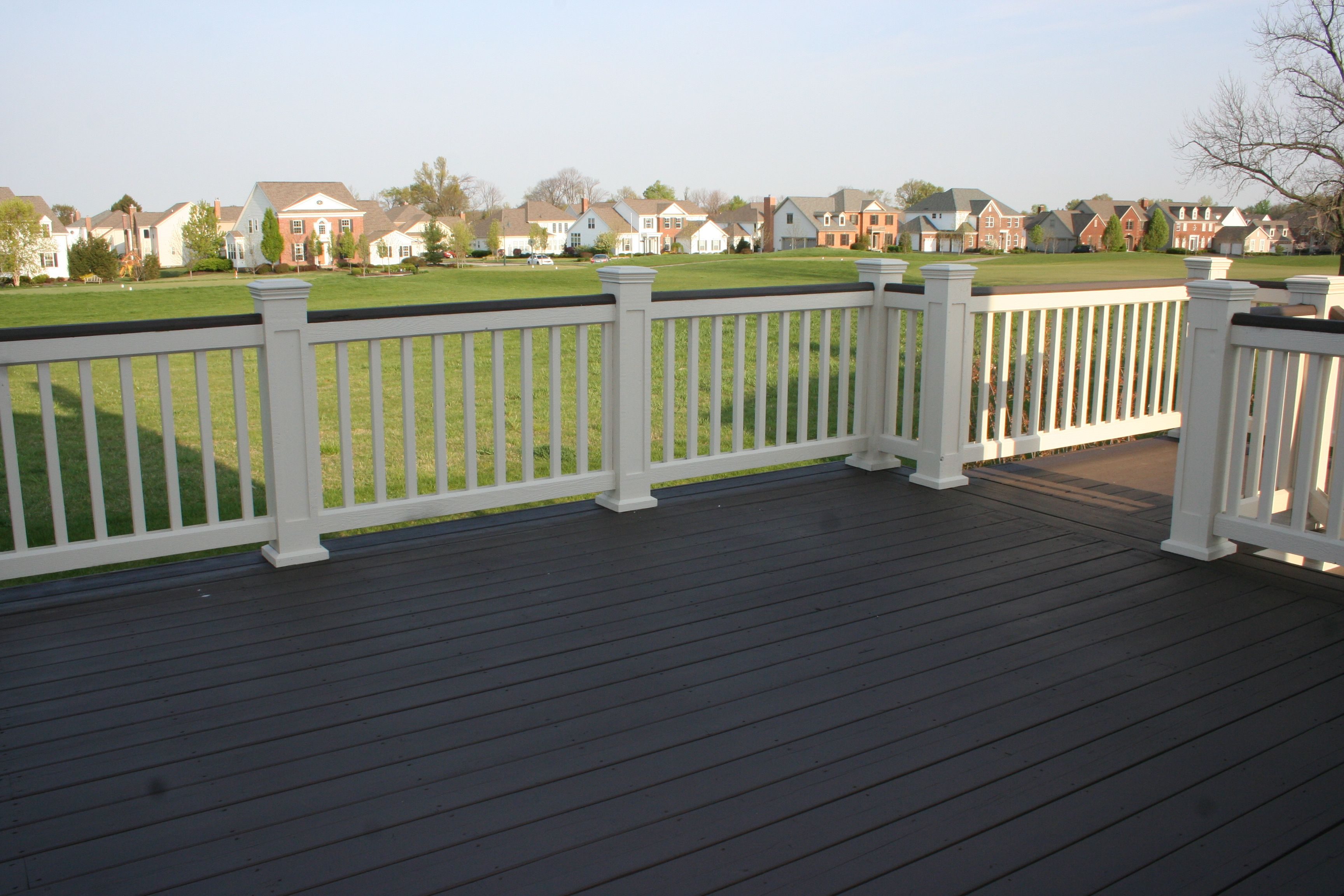 Great Two Tone Deck Over Looking The Golf Course Deck