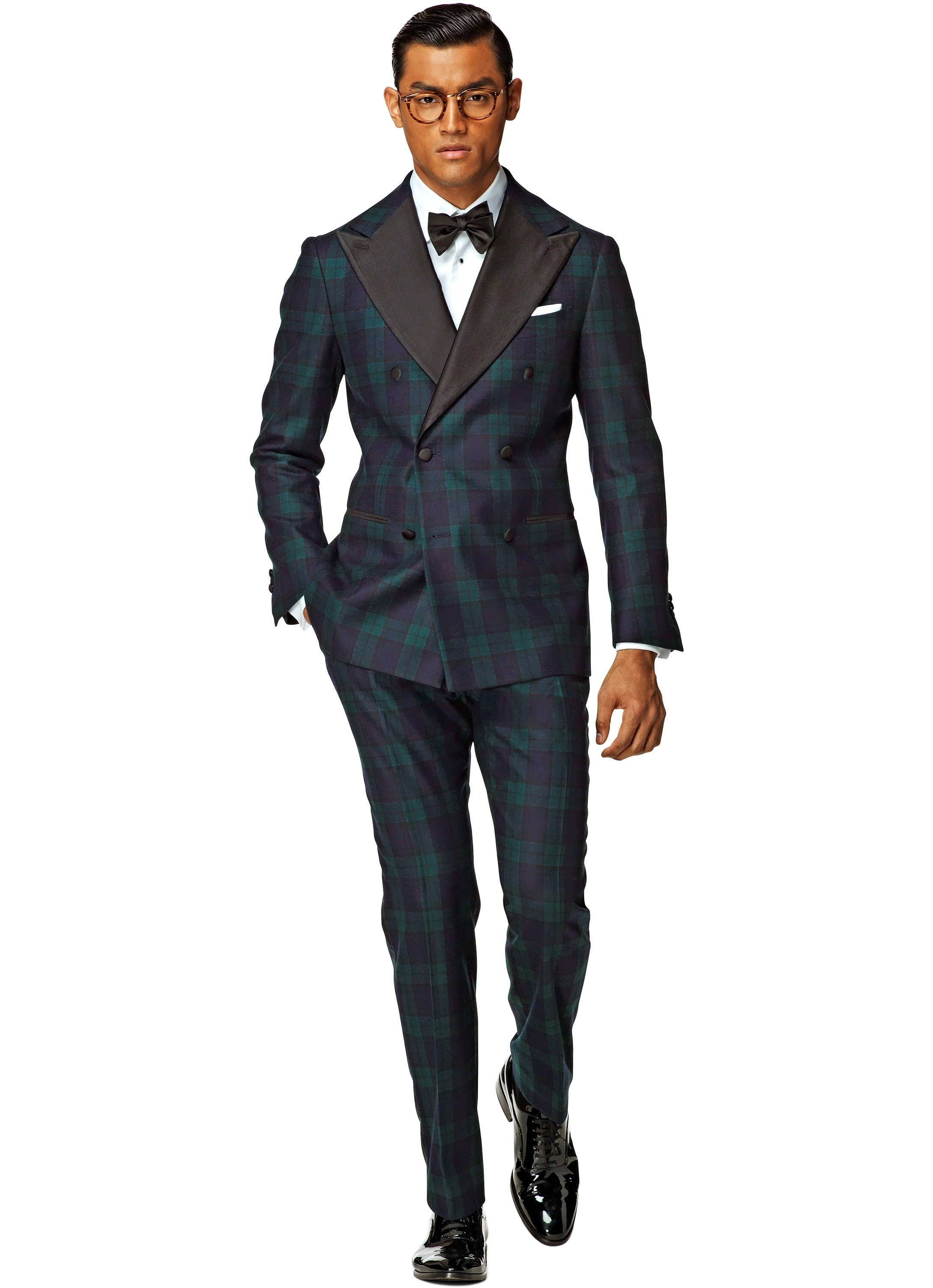 486a3b862092 Suit Blue Check Madison Smoking P3989 | Suitsupply Online Store ...