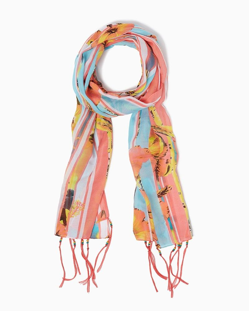 charming silky hibiscus scarf upc