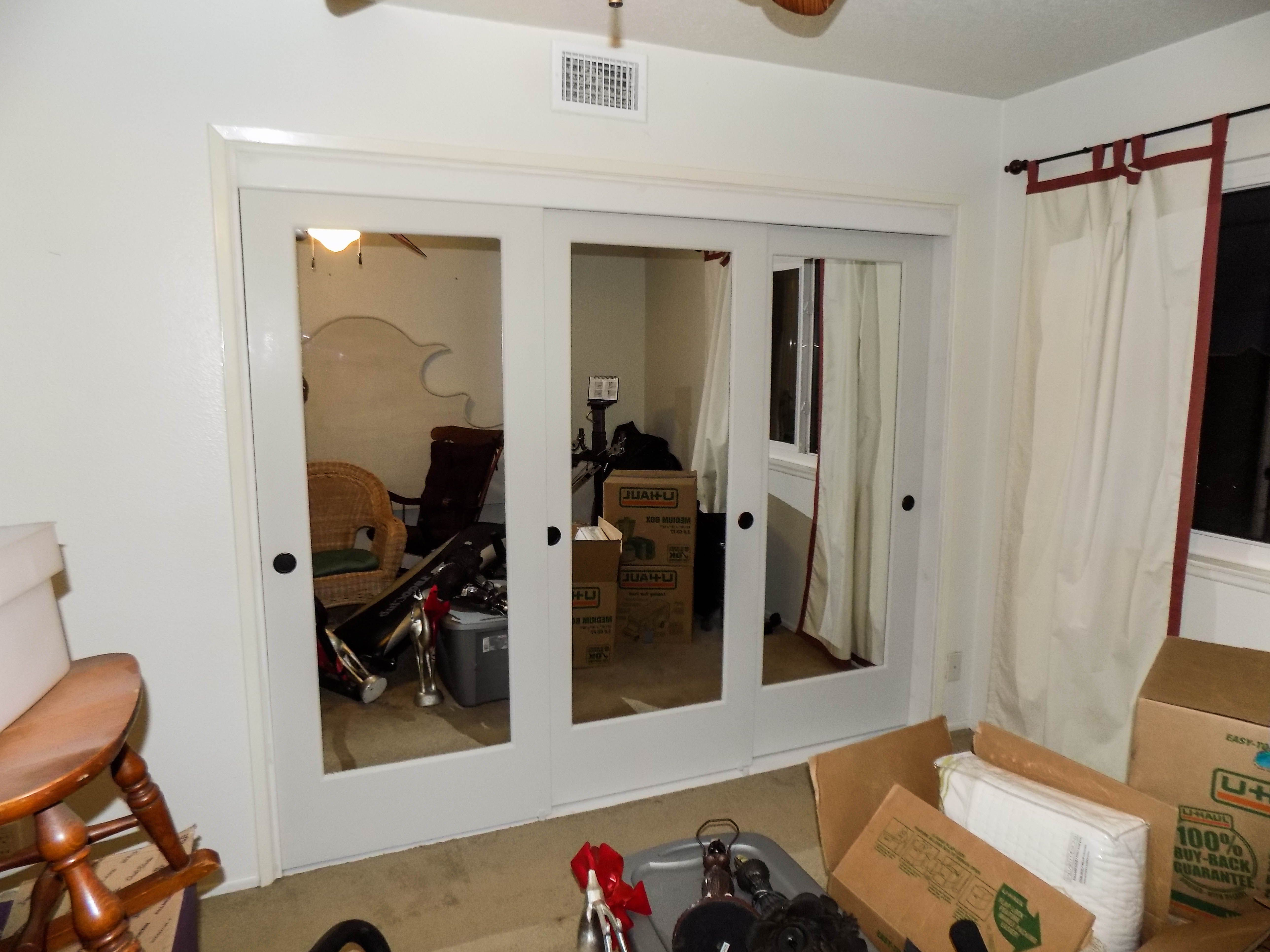 We installed these Ovation Top Hung Bypass Closet Doors