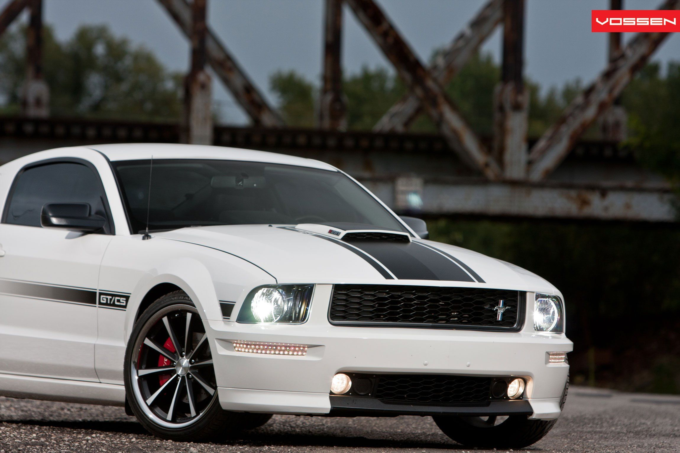 Sports Car Appearance At Its Best Customized White Ford Mustang