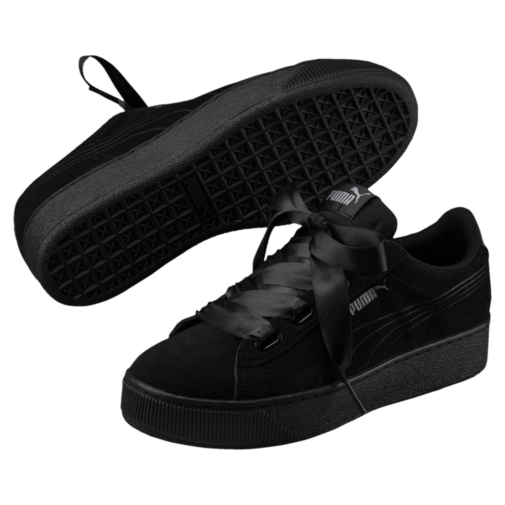 Vikky Platform Ribbon Womens Sneakers Black Puma Black Sneakers Women Womens Sneakers Puma Vikky Platform