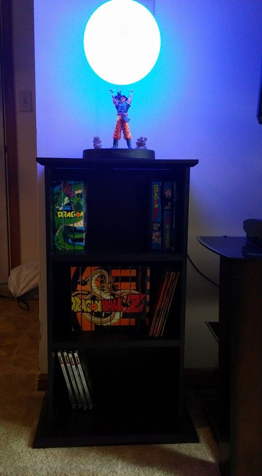 Spirit Bomb Lamp owned by Chanel Krouser  My awesome Sprit Bomb lamp and growing Dragon Ball movie/tv series collection. Thank you Lamplanet! You made this fan (and her husband who also is a big fan) very happy!!!