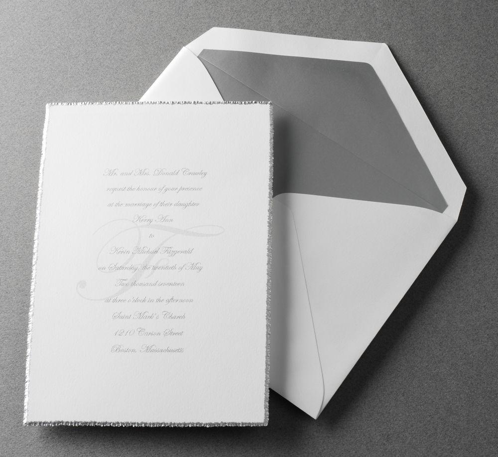 Vintage Silver Edge Wedding Invites Pinterest Vintage Silver