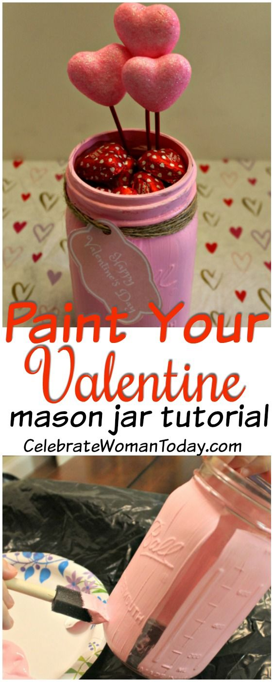 Express your love with words and gift unique presents like this mason jar filled with heart Chocolate Candy! Here's #HOWTO Mason Jar Craft Tutorial #HeartThis #ValentinesDay #Craft #masonjar #masonjarcrafts