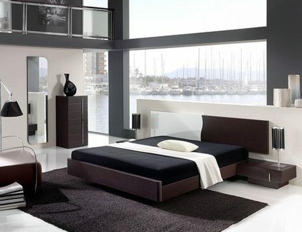 Hervorragend decoration chambre a coucher homme noir et blanc minimaliste  TD29