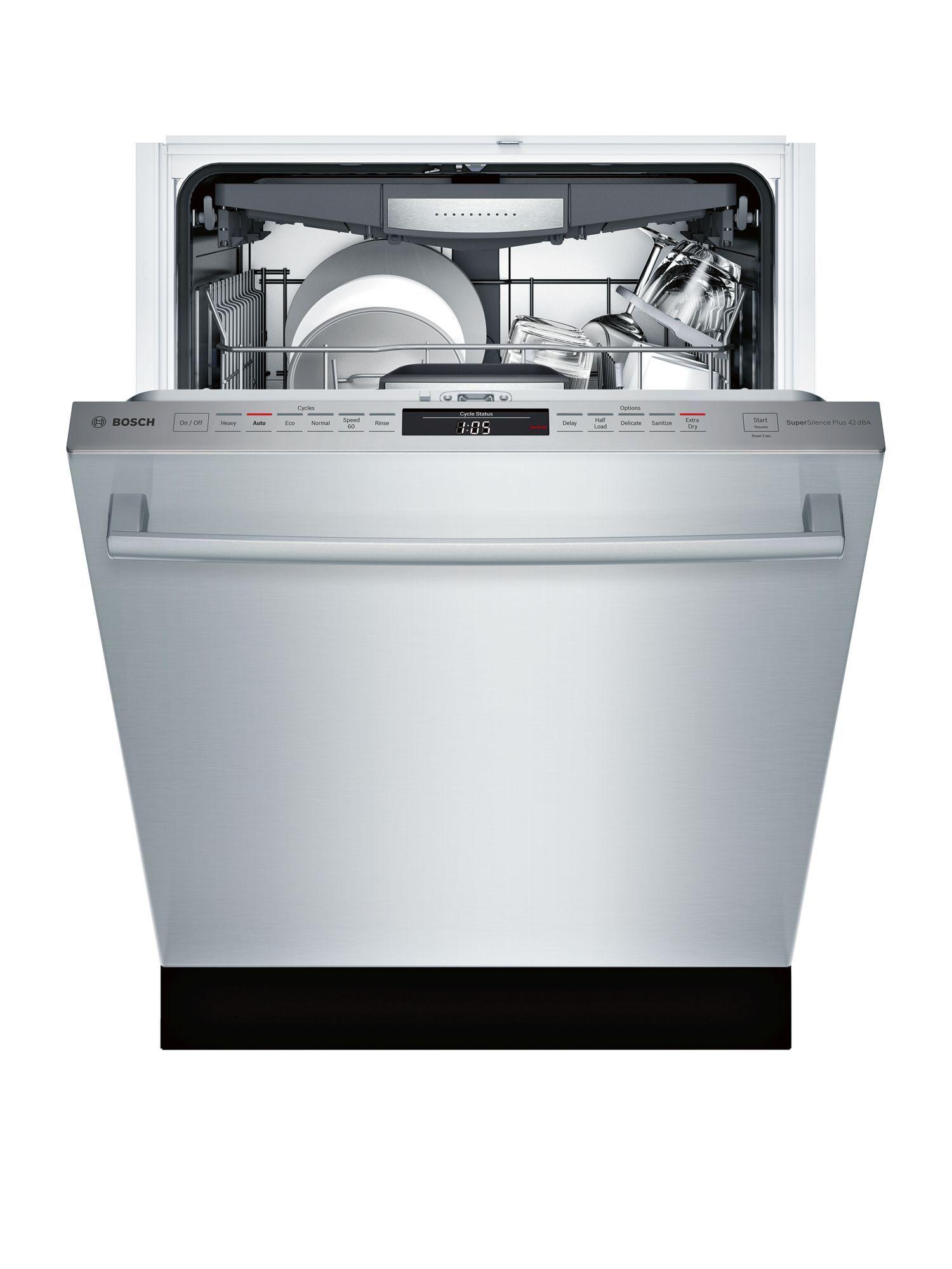 24 Bar Handle Dishwasher Shxm78w55n Stainless Steel 800 Series