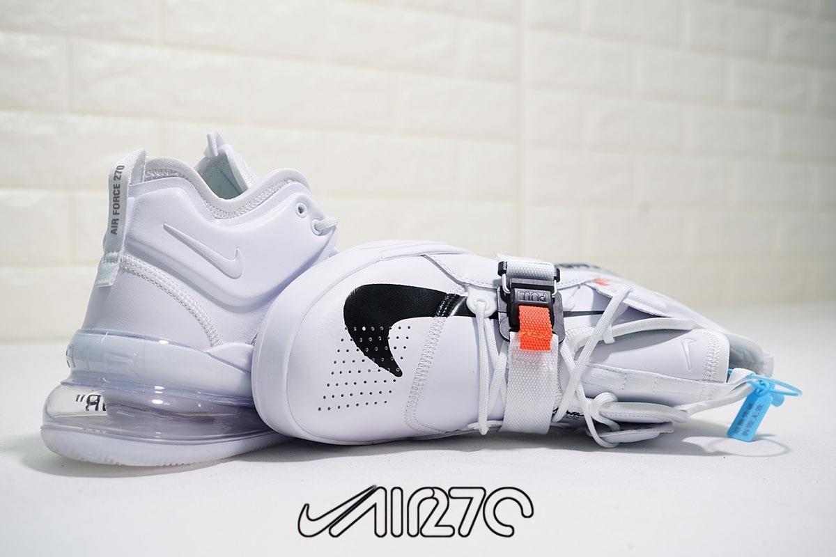Custom Nike Air Force 270 x Off-White- White Orange-Black White 245b1fb41