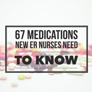 67 Medications Every New ER Nurse Must Master! | Nursing | Trauma