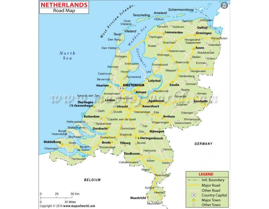 Buy Netherlands Road Map  Netherlands