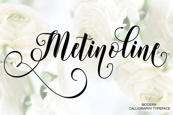 Metinoline Script Modern script font, Modern typeface and Fonts