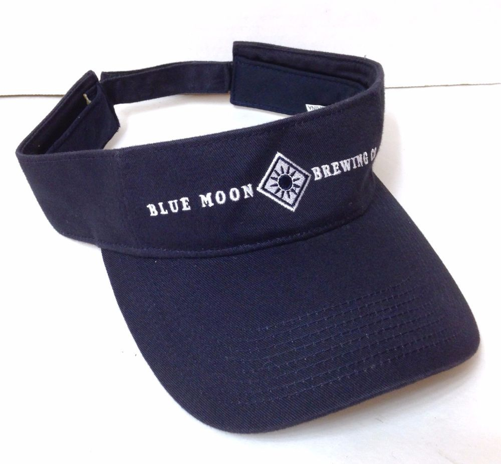 9f1c00fe htf BLUE MOON BREWING COMPANY VISOR Sun Golf Hat Beer Co Men/Women  Adjustable #BlueMoon #Visor