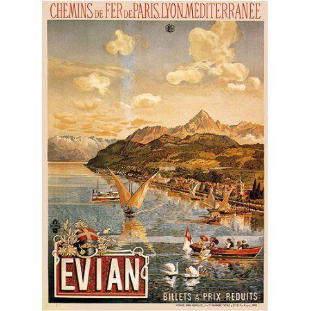 Trademark Fine Art Evian Canvas Art by Tanconville, Size: 18 x 24, Multicolor