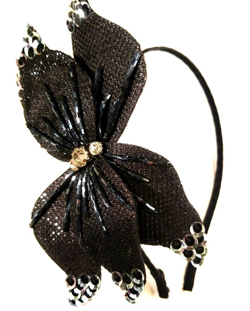 8db82422ee1 Pointy Sequin Bow Hair Band Headband Fascinators Formal Hairstyles