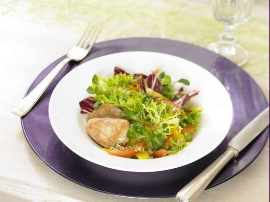 Gemischter Salat mit Hühnerbrust - Dr. oetker Spicy  - Best Salat -