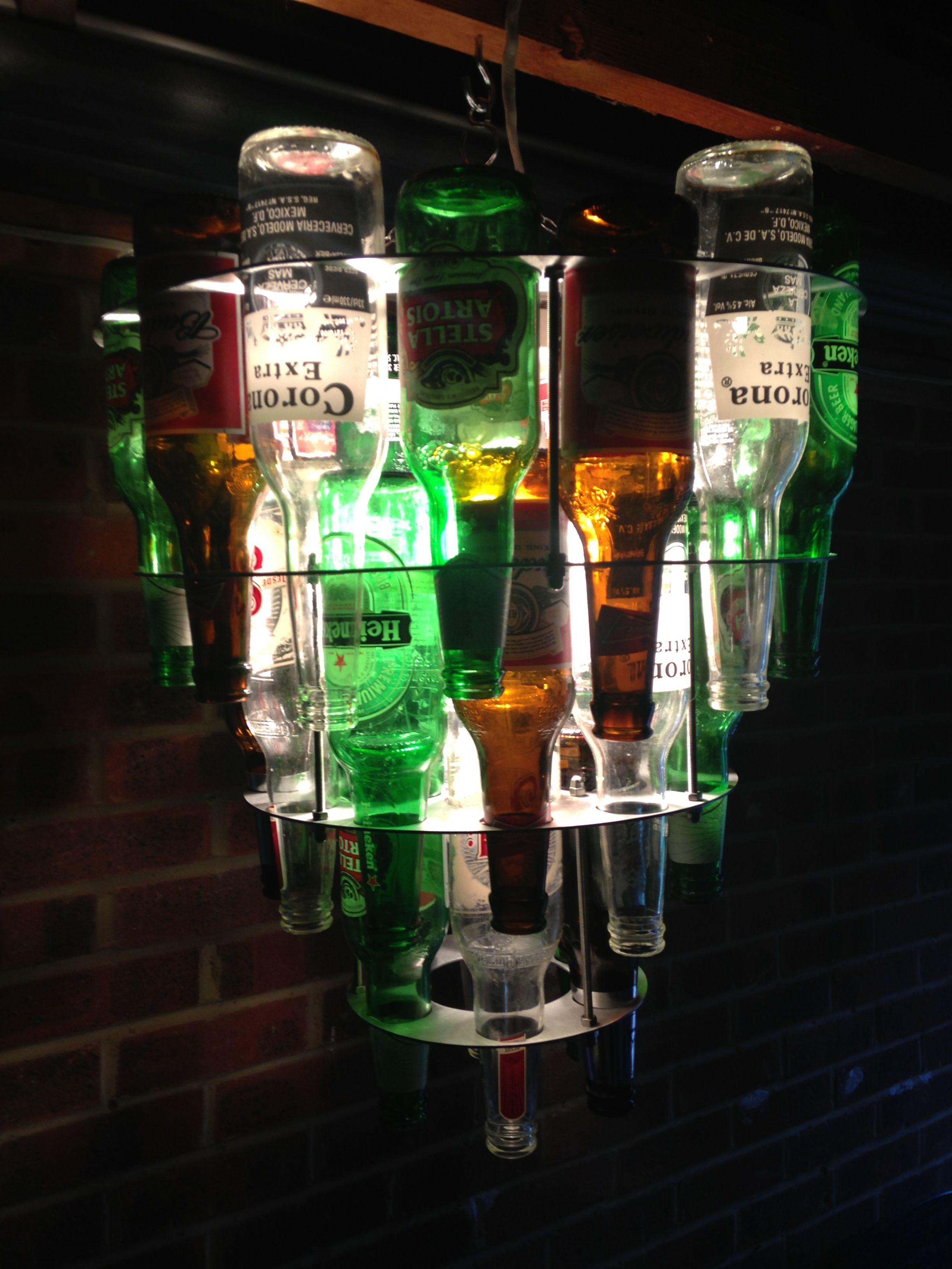 Beer Bottle Chandeliers Beer bottle chandelier do it yo self pinterest beer bottle beer bottle chandelier audiocablefo