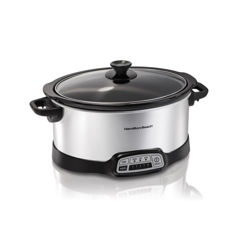 Hamilton Beach 7 Qt Programmable Stainless Steel Slow Cooker With