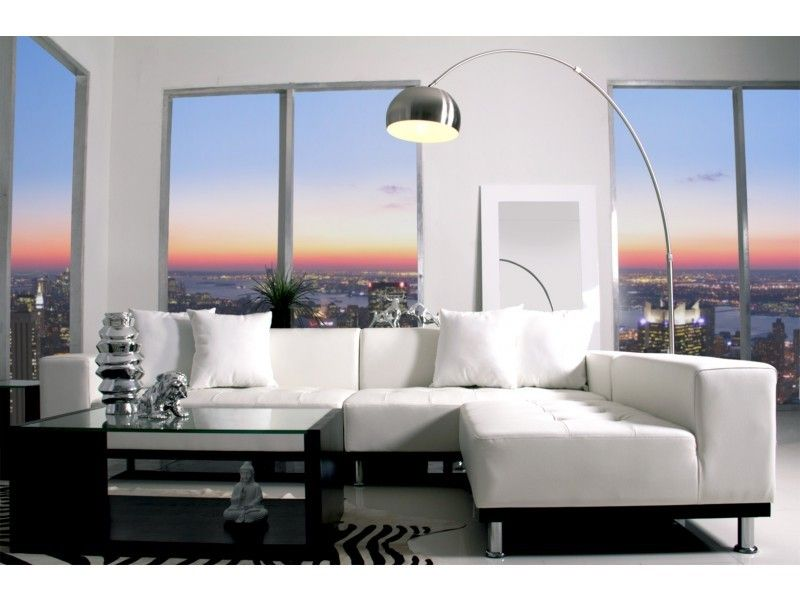 Modern italian white leather sectionals sofas
