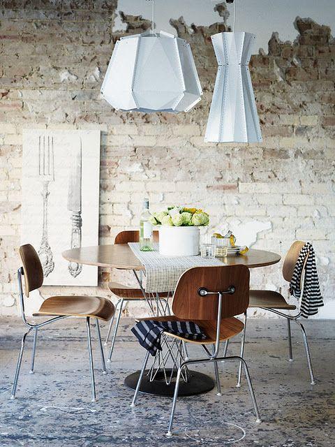 Cyclone Dining Table Isamu Noguchi Eames DCM Chair Interior