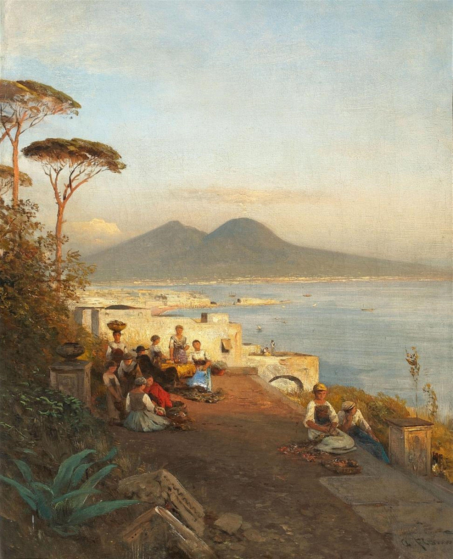 Italia Sanford Robinson Gifford Il Vesuvio da Marina Grande Capri Olio su carta poi su tela del 1875 23 1 X 35 5 cm Museum of Fine Arts Bos…