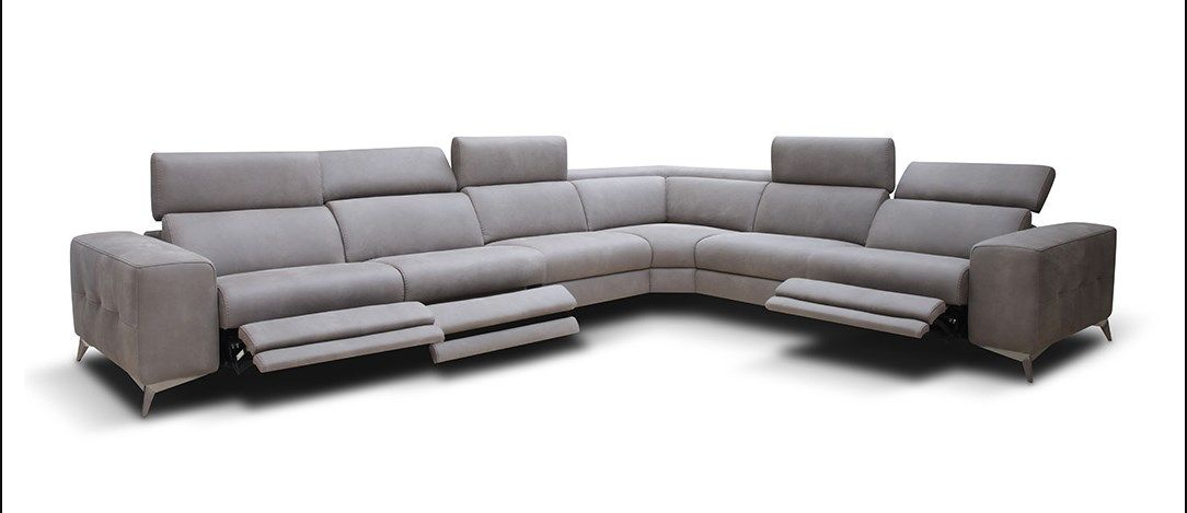 modern recliner sofa sectional | Sectional sofa with ...