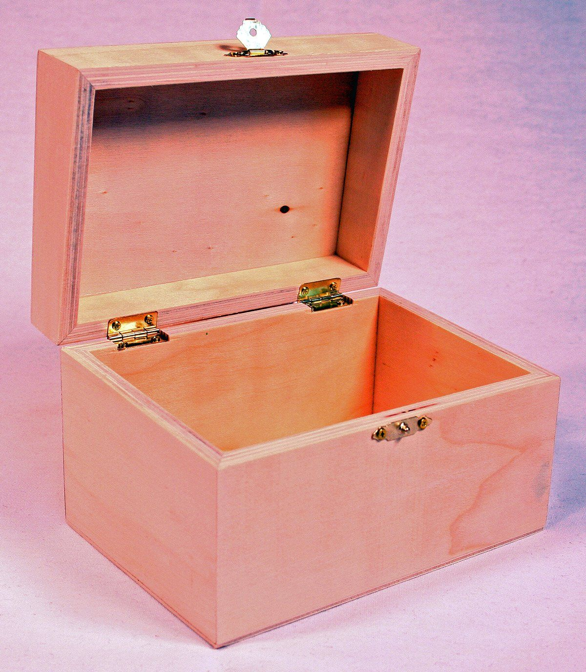 Decorative Recipe Box Creative Hobbies® Unfinished Wooden Recipe Box With Hinged Lid And