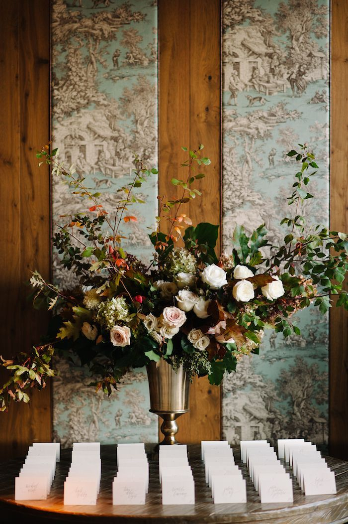 Outstanding Neutral Fall Wedding With Lush Organic Flowers Escort Download Free Architecture Designs Lectubocepmadebymaigaardcom