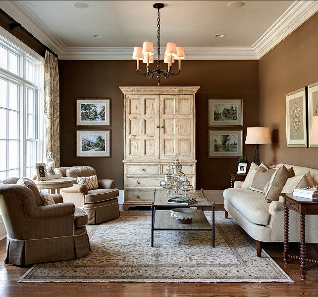 Traditional Home With Beautiful Interiors Brown Living Room Paint Colors For Living Room Formal Living Rooms