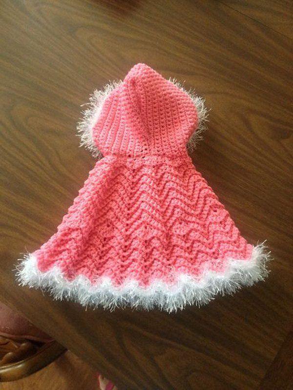 Crochet Baby Ripple Cape. | Baby projects | Pinterest | Stricken für ...