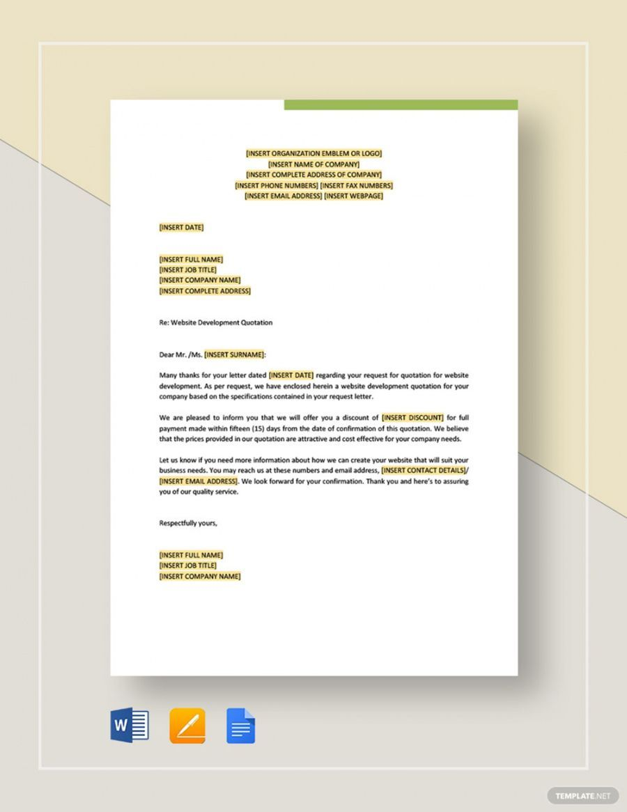 Pin On Quotation Templates