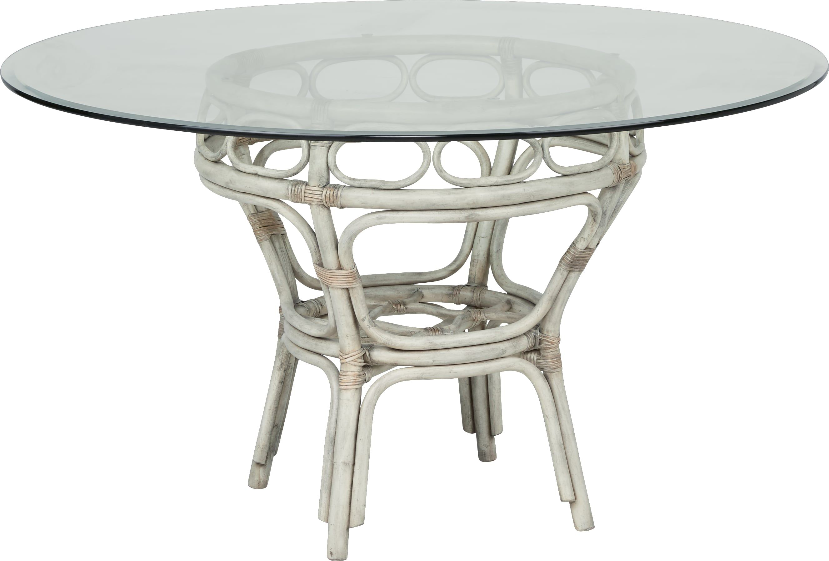 ab330413a679 Cindy Crawford Home Shorecrest White 48 in. Round Dining Table in ...