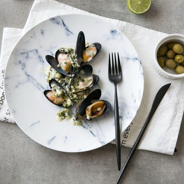 Modern housewife European marble series ceramic tableware western