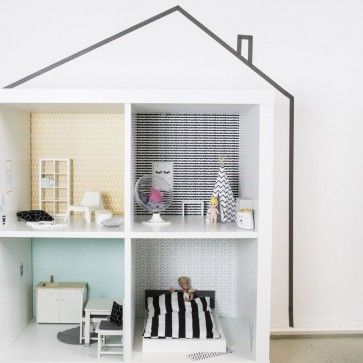 das ikea kallax regal l sst sich perfekt als puppenhaus umfunktionieren bei uns bekommt ihr. Black Bedroom Furniture Sets. Home Design Ideas