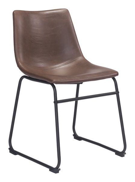 Zuo Modern Smart 19 3 In Espresso Faux Leather Dining Chair