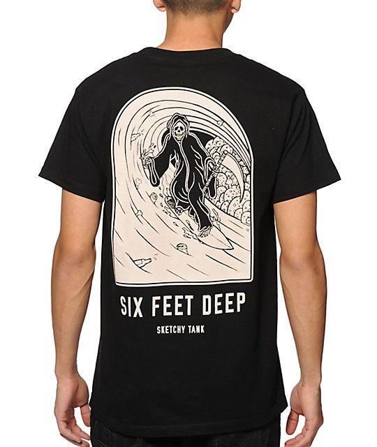 7306d3441c207d Sketchy Tank 6ft Deep camiseta