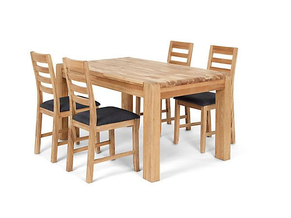 Cargo Hartham Round Dining Extending Table And 4 Wooden Chairs: Cargo Portsmore / Harveys Furniture