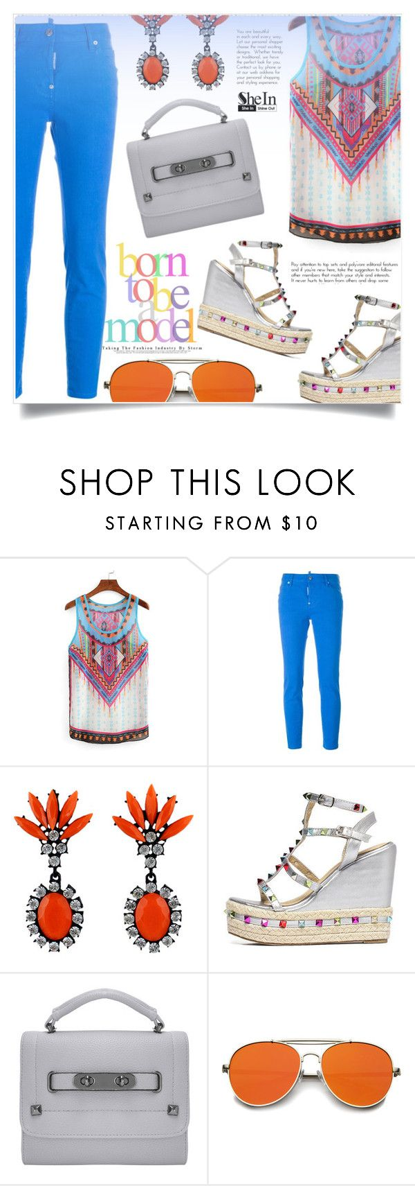 """Shein 8"" by aida-banjic ❤ liked on Polyvore featuring Dsquared2 and shein"