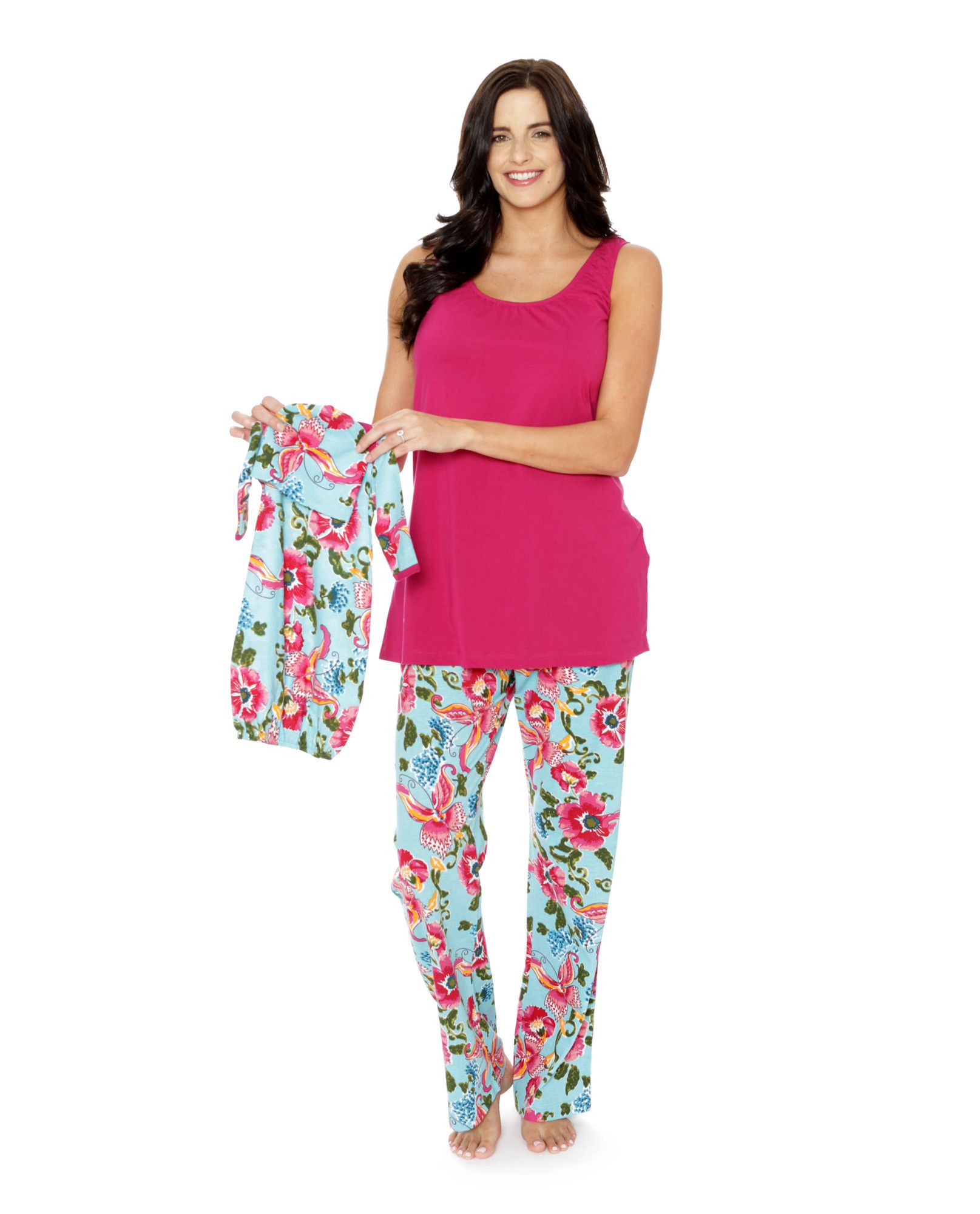 28446fe107e Isabelle Maternity Nursing PJ s   Matching Baby Receiving Gown Set ...