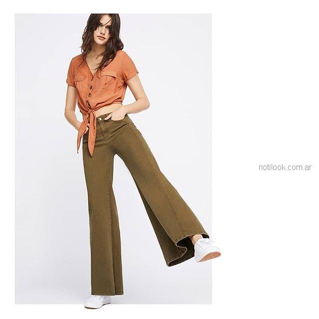 572528e3c pantalon oxford y camisa con nudo Basement verano 2019
