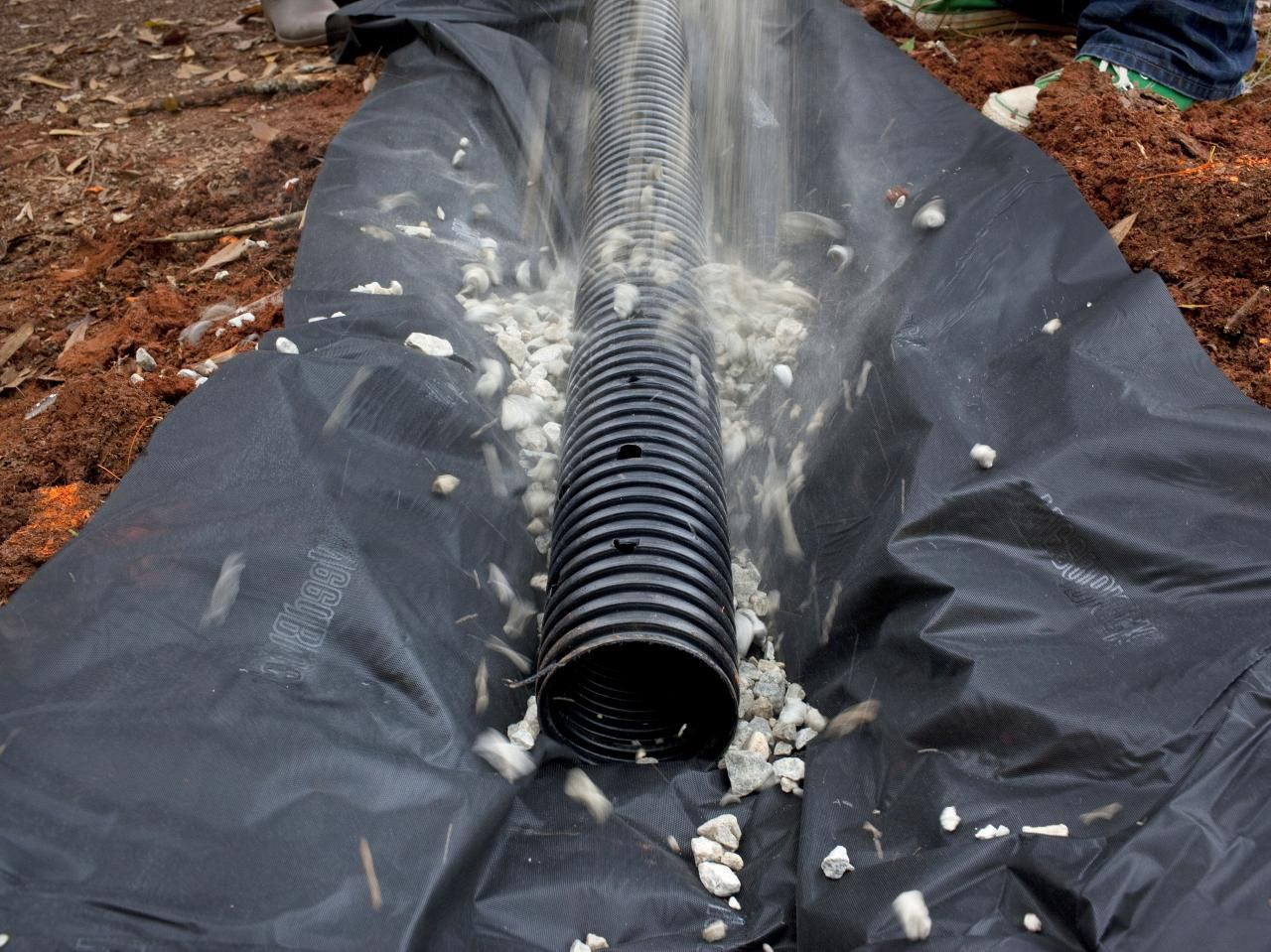 How To Build A French Drain French Drain Yard Drain