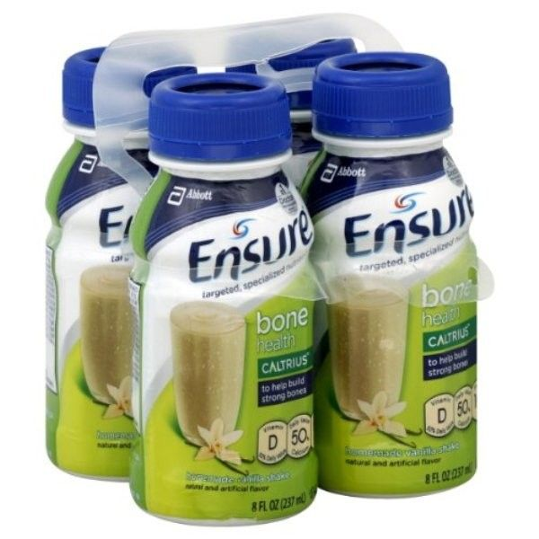 Ensure Bone Health Nutrition Shake - Homemade Vanilla. Pack of 4 (8 oz.) Bottles: $11.49
