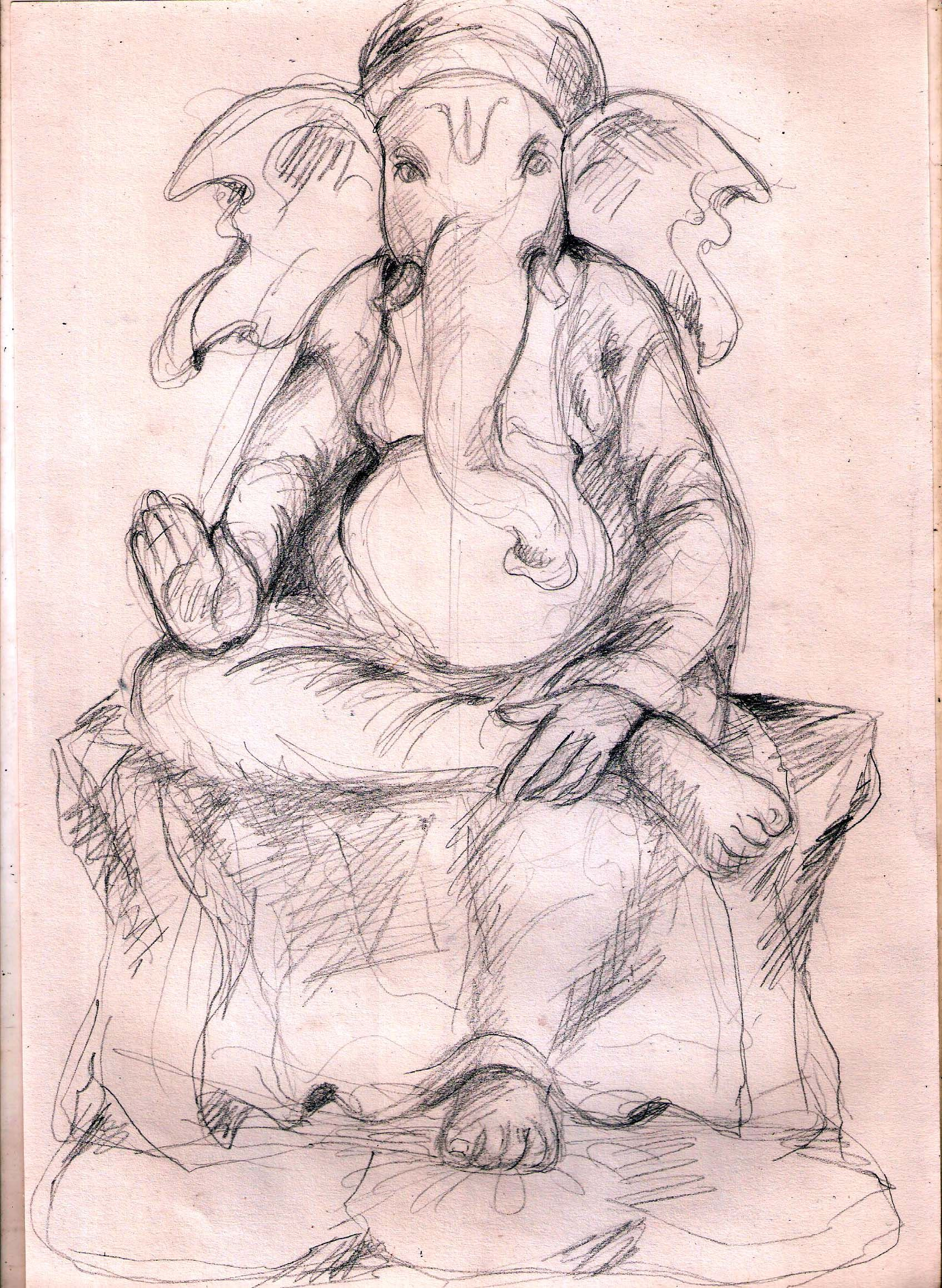 Pencil sketch ganesha sri ganesh ganesha pencil sketching ganesh