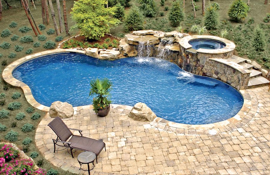 free form pools blue haven pools backyard oasis. Black Bedroom Furniture Sets. Home Design Ideas