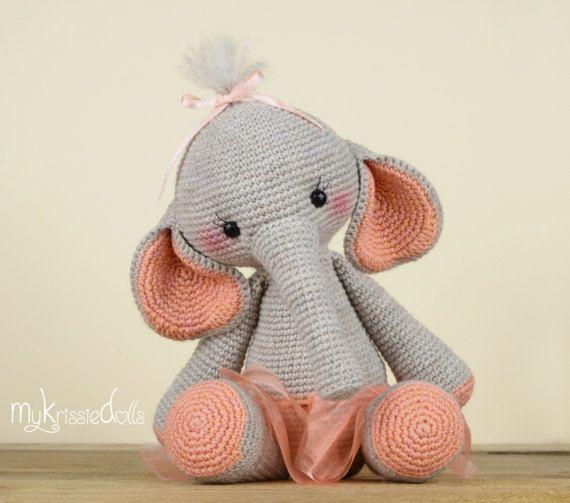 Crochet Pattern Elephant Nina Schööön