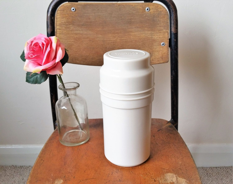Vintage Thermos Flask, 1950s Bakelite Vacuum Flask with Cork