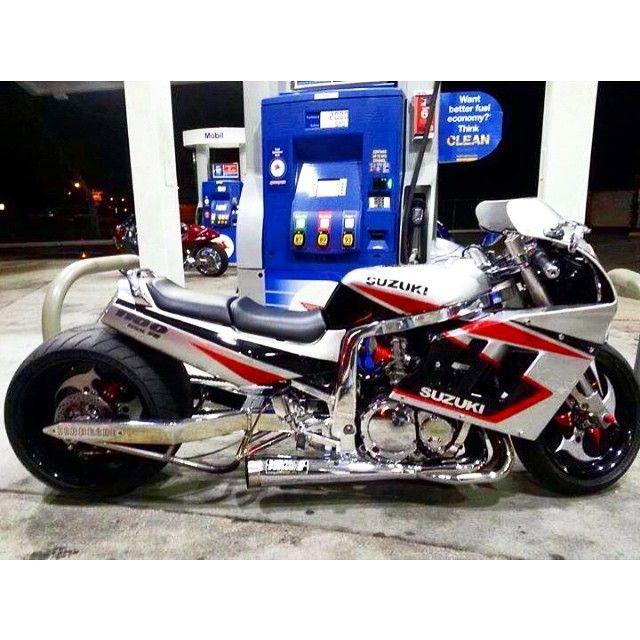 Gsxr 1000 Turbo Grudge Bike: Stretched Fat Tire 1991 Suzuki GSXR 1100